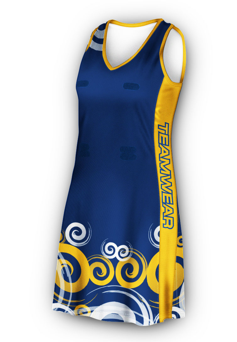 d6a6732602c Racer Back Netball Dress - Design Your Own Netball Uniform Experts ...
